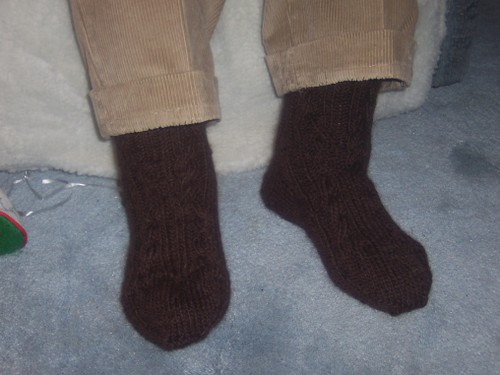 Grandpa's Log Cabin Socks